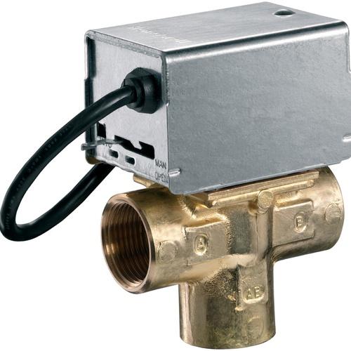 Honeywell Home Zonen-Dreiwegeventil V404 Messing 1/2″... HONEYWELL-V4044C1452/U 0085267131032 (Abb. 1)