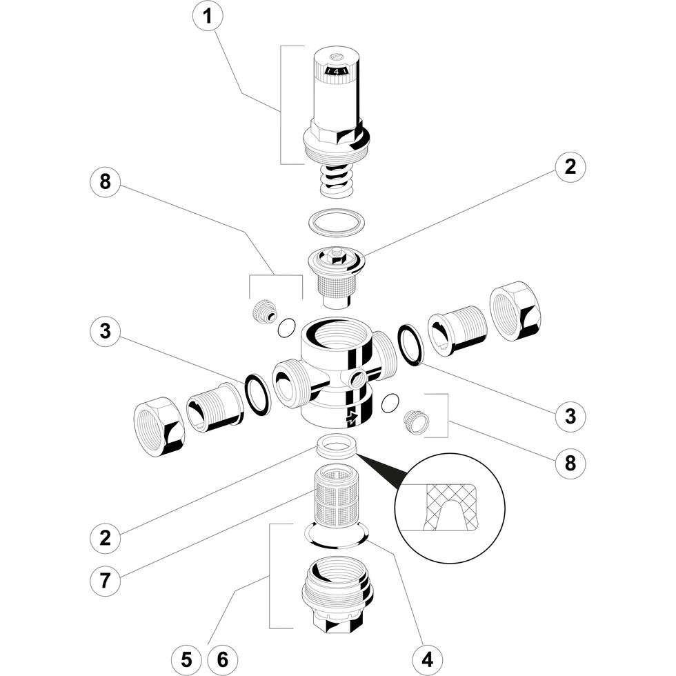Druckminderer Honeywell Schallschutz- D06F-2 A