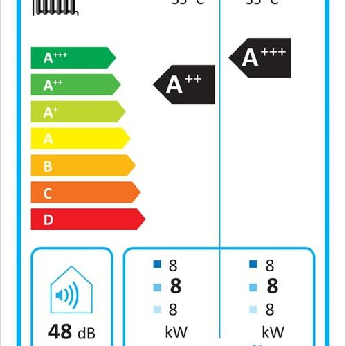 Kermi x-change dynamic 8 AW I 4-10kW, Luft/Wasser Innen, mit Regler... KERMI-W20346 4037486681214 (Abb. 1)