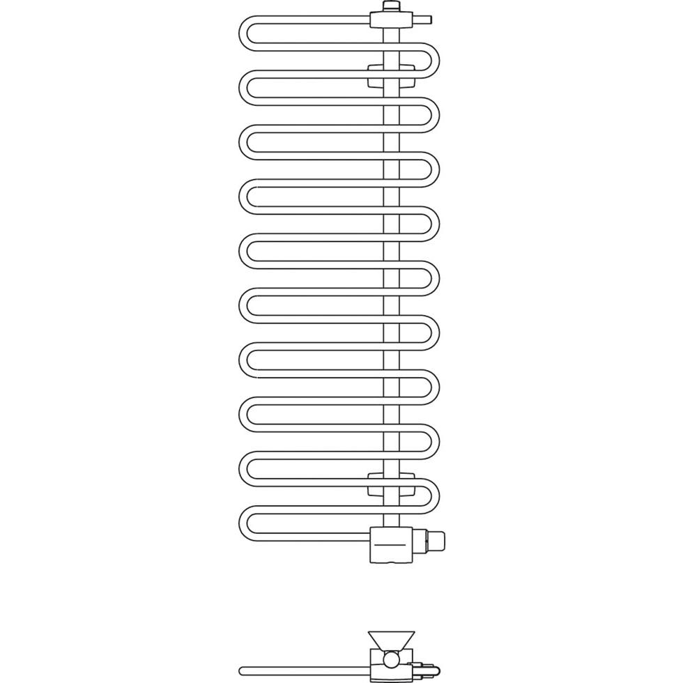 Kermi Icaro BH1446x58x400mm glanzsilber, links... KERMI-CRV1A140040WXXK 4037486144320 (Abb. 4)