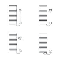 Kermi Tabeo-E BH1437x101x500mm circonsilber, WFS rechts... KERMI-TBE10150050TFXK  (Abb. 7)