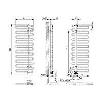 Kermi Icaro BH1446x58x400mm glanzsilber, links... KERMI-CRV1A140040WXXK 4037486144320 (Abb. 2)