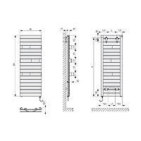 Kermi Tabeo-E BH1437x101x500mm circonsilber, WFS rechts... KERMI-TBE10150050TFXK  (Abb. 2)