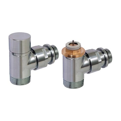 Simplex Design-Thermostatventil-Set Eck D3804 G1/2a x G3/4a Eurokonus Messing verchro... SIMPLEX-C3804324 3430650261587 (Abb. 1)