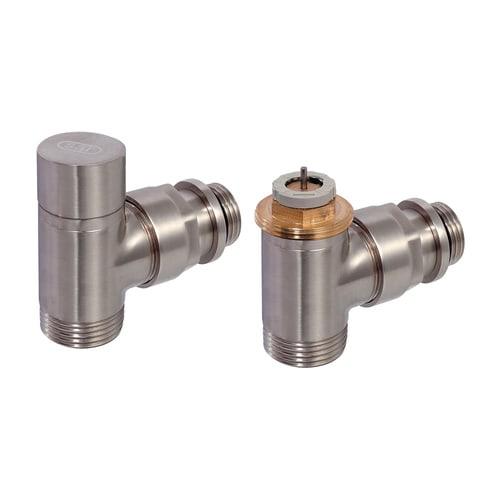 Simplex Design-Thermostatventil-Set Eck D3804 G1/2a x G3/4a Eurokonus Messing Edelsta... SIMPLEX-C3804334 3430650261594 (Abb. 1)