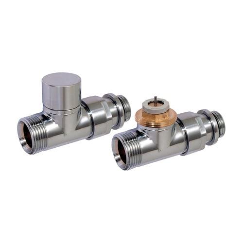 Simplex Design-Thermostatventil-Set DurchgangD3805 G1/2a x G3/4a Eurokonus Messing ve... SIMPLEX-C3805324 3430650261617 (Abb. 1)