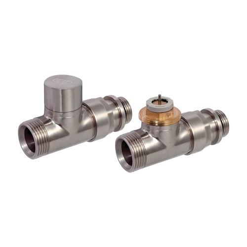 Simplex Design-Thermostatventil-Set DurchgangD3805 G1/2a x G3/4a Eurokonus Messing Ed... SIMPLEX-C3805334 3430650261624 (Abb. 1)
