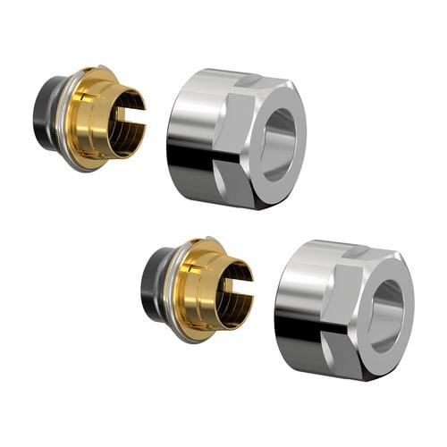 Simplex Design-Klemmverschraubung-Set F11 15x1 x G3/4i Eurokonus Messing hgl.verchromt... SIMPLEX-F11132 4013852245600 (Abb. 1)