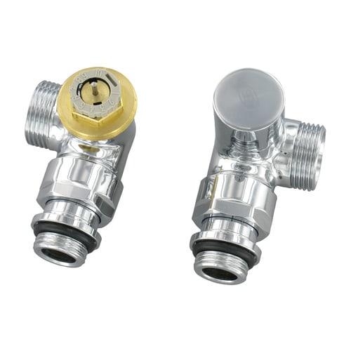 Simplex Design-Thermostatventil-Set Winkel-Eck D3933 G1/2a x G3/4a EK, M30x1,5, Me... SIMPLEX-CL342002001 3430650328822 (Abb. 1)