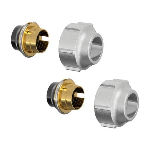 Simplex Klemmverschraubung-Set A11 15x1mm x G3/4i Eurokonus Messing vernickelt... SIMPLEX-F11170 4013852207424 (Abb. 1)