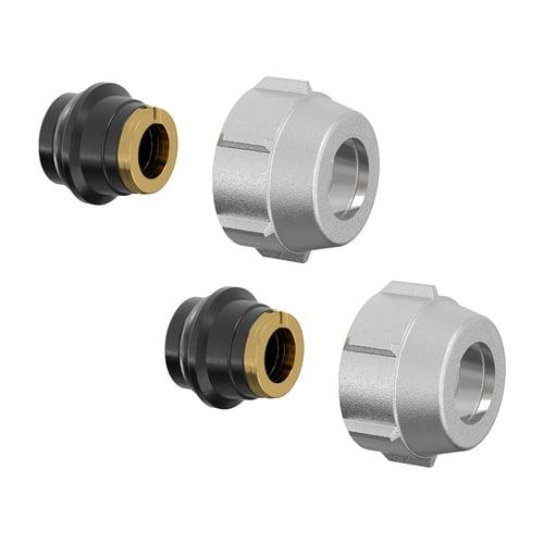 Simplex Klemmverschraubung-Set A1 10x1mm x G3/4i Eurokonus Messing vernickelt... SIMPLEX-F11187 4013852207479 (Abb. 1)
