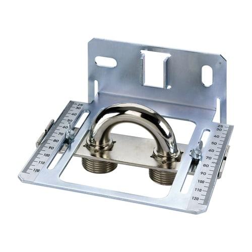 Simplex Montageschablone für Ventil-Heizkörper Achsabstand 50 mm, Stahlblech verzinkt... SIMPLEX-F10039 4013852200739 (Abb. 1)