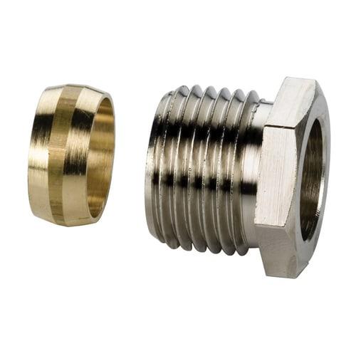 Simplex Klemmringverschraubung G1/2a x 15mm Messing vernickelt... SIMPLEX-F10352 4013852203839 (Abb. 1)