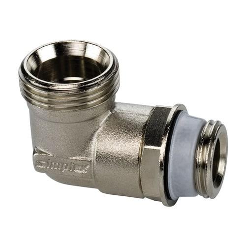 Simplex Anschlusswinkel G1/2a x G3/4a Eurokonus Messing vernickelt... SIMPLEX-F10368 4013852204003 (Abb. 1)