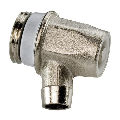 Simplex Entleerungsstopfen S EXCLUSIV G1/2a Messing vernickelt, Auslauf aus Metall... SIMPLEX-F10604 4013852205147 (Abb. 1)
