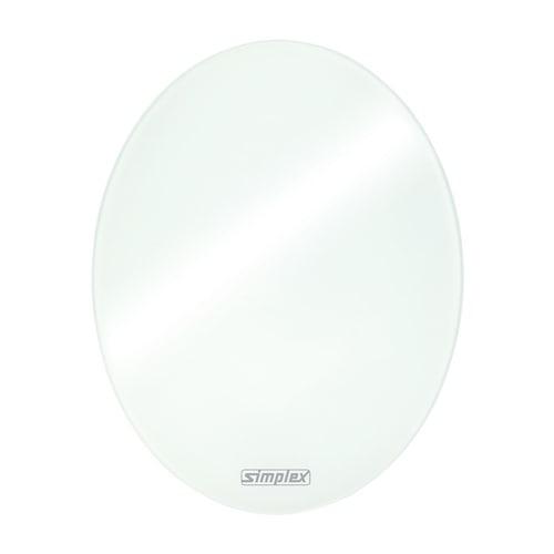 Simplex Design-Blende für Regelboxen Sicherheitsglas oval... SIMPLEX-F11819 4013852260023 (Abb. 1)