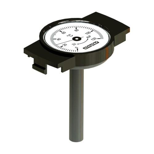 Simplex Thermometer-Nachrüsts. für Knebelgriff 0 - 120 Grd C, Kunststoff... SIMPLEX-F14024 4013852258532 (Abb. 1)
