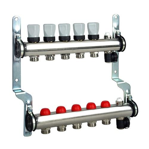 Simplex Heizkreisverteiler ohne DF-Anzeiger 2 HKS, G1ixG3/4a Eurokonus, Edelstahl... SIMPLEX-F18161 4018919072908 (Abb. 1)