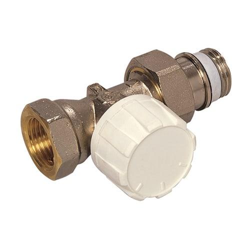 Simplex Thermostatventil Durchgang kurz DN10 mit Voreinstellung, Rp 3/8″ x G1/2a, M30x1... SIMPLEX-F34009 4018919004572 (Abb. 1)
