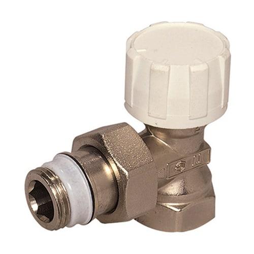 Simplex Thermostatventil Eck kurz DN10 mit Voreinstellung, Rp 3/8″ x G1/2a, M30x1,5... SIMPLEX-F34010 4018919004589 (Abb. 1)