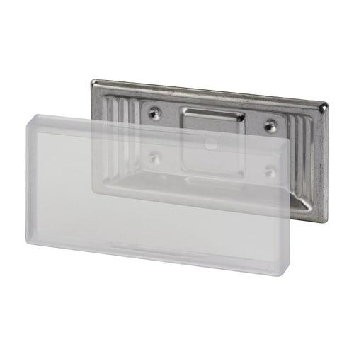 Simplex Anschraub-Schilderhalter Edelstahl, Kunststoff für Schilder 100 x 50mm... SIMPLEX-F55006 4013852216907 (Abb. 1)