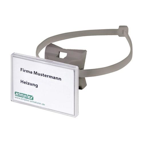 Simplex Schilderhalter QUICK 70x50,8 mm für Rohre bis D200mm, Kunststoff grau... SIMPLEX-F55022 4013852245877 (Abb. 1)