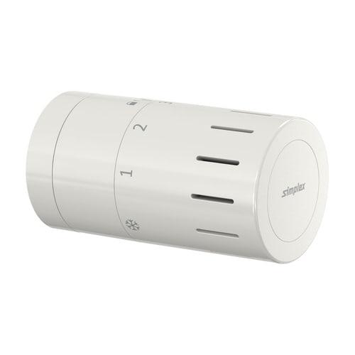 Simplex Design-Thermostatkopf TC-D1 weiß M30 x 1,5 mit Nullstellung... SIMPLEX-F35320 4013852269736 (Abb. 1)