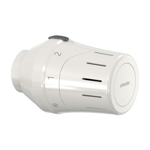 Simplex Exklusiv-Thermostatkopf TC-E1 weiß Klemmanschluss mit Nullstellung... SIMPLEX-F35332 4013852271562 (Abb. 1)