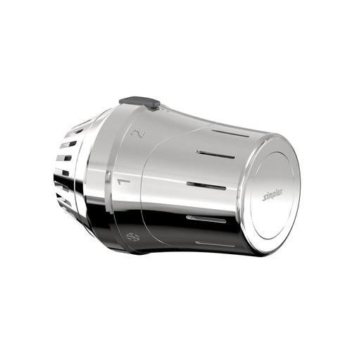 Simplex Exklusiv-Thermostatkopf TC-E1 chrom M30 x 1,5 mit Nullstellung... SIMPLEX-F35331 4013852271555 (Abb. 1)