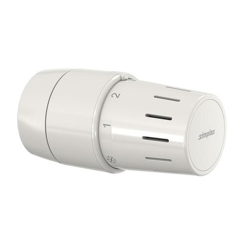 Simplex Standard-Thermostatkopf TC-S3 weiß Klemmanschluss mit Nullstellung... SIMPLEX-F35342 4013852271609 (Abb. 1)