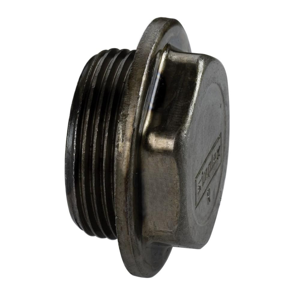 Simplex Blindstopfen rechts, R G1 1/4a (R) Stahl leicht F10901