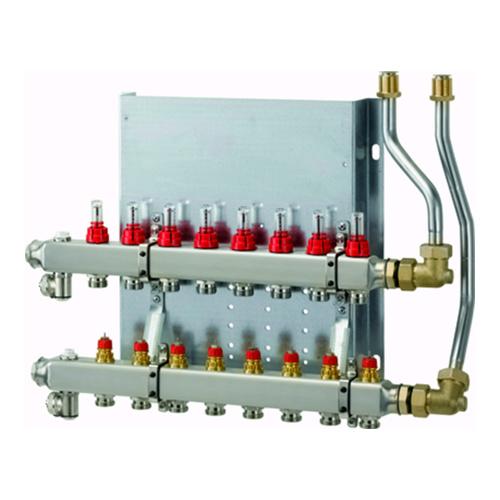 WOLF Heizkreisverteiler manuell CUC-B 2 Heizkreise, mit Durchflussmesser... WOLF-2072431 4045013334564 (Abb. 1)