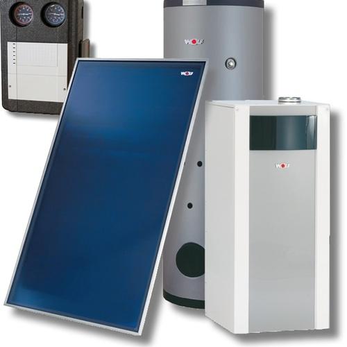 Wolf Sonnenpaket Ölbrennwert COB-2-15 2x Kollektor F3-1, 1 HK, SEM-2-300... WOLF-8908791W11 4045013405042 (Abb. 1)